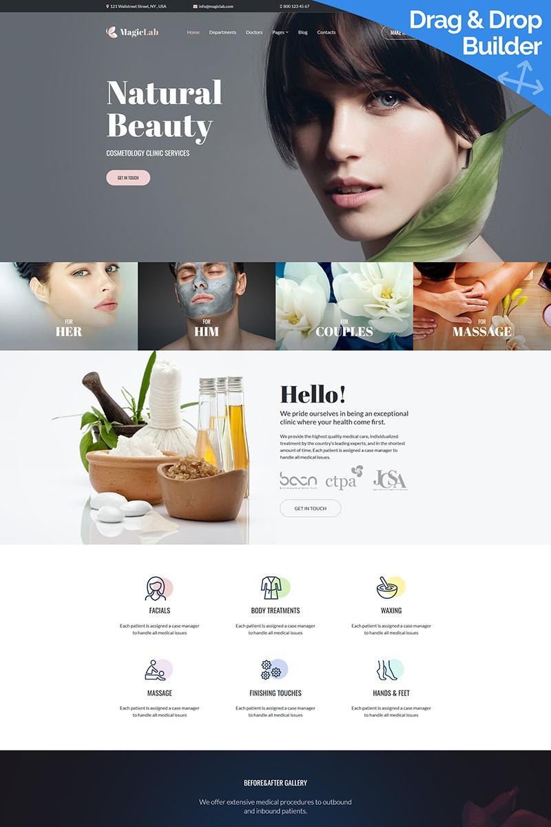 "Moto CMS 3 Template namens ""MagieLab - Cosmetic Clinic"" #93460 - Screenshot"