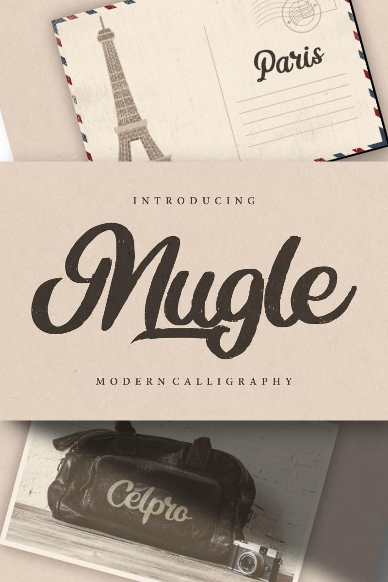 Mugle | Modern Calligraphy Script Font - screenshot