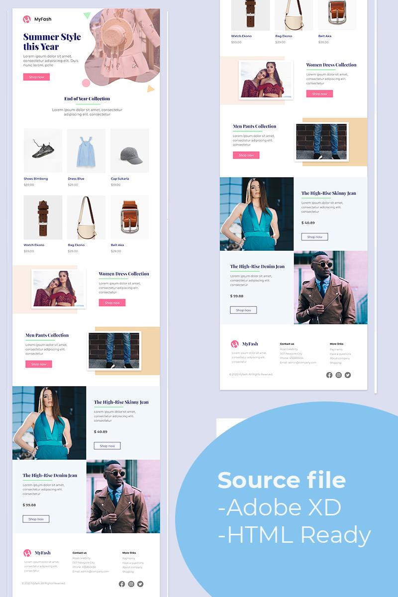 "Newsletter Vorlage namens ""MyFash - Fashion Multipurpose Email"" #93423"