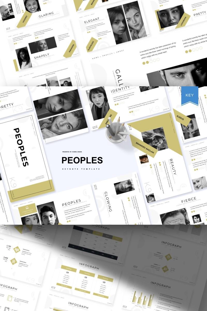 """Peoples |"" - Keynote шаблон №93416 - скріншот"