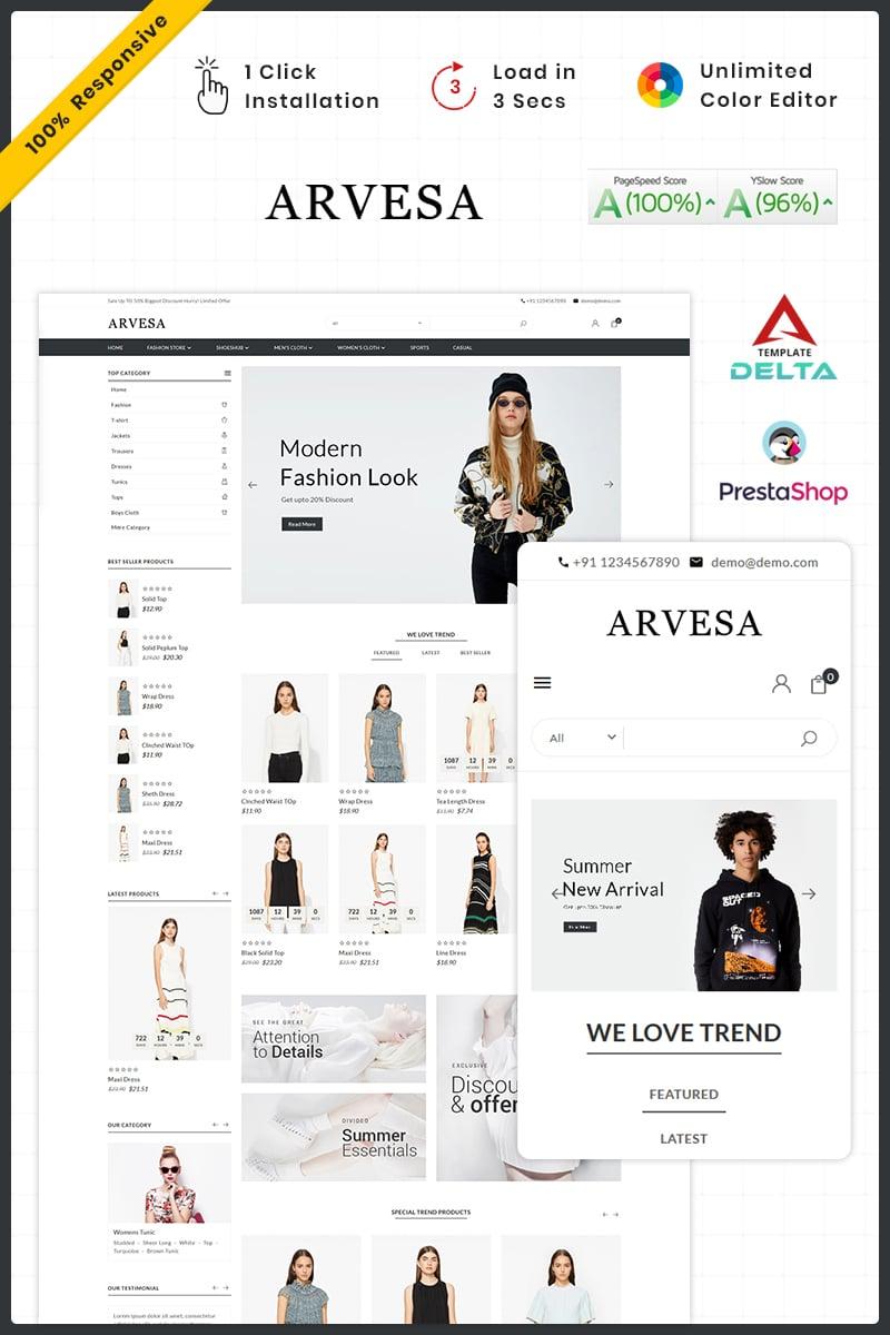 "PrestaShop Theme namens ""Fashi Arvesa - Fashion Store"" #93430"