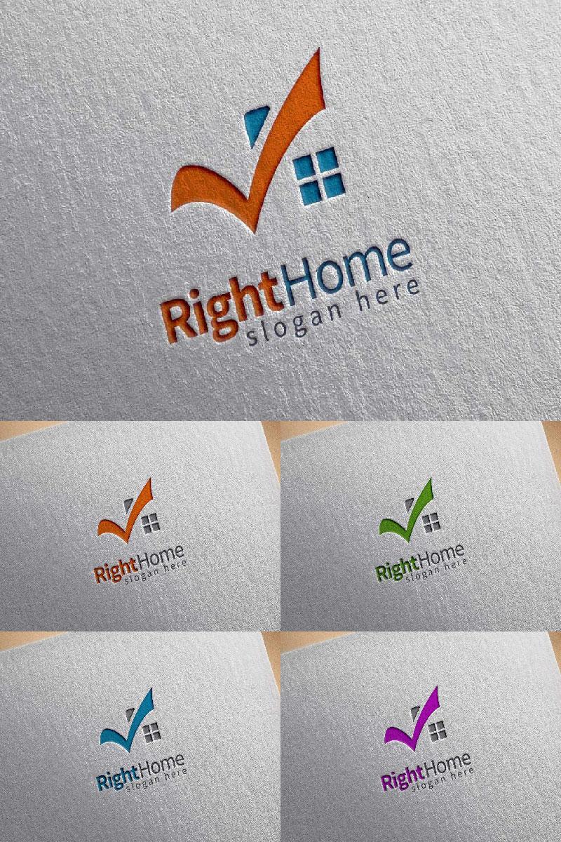 Real Estate 3 Logo Template - screenshot
