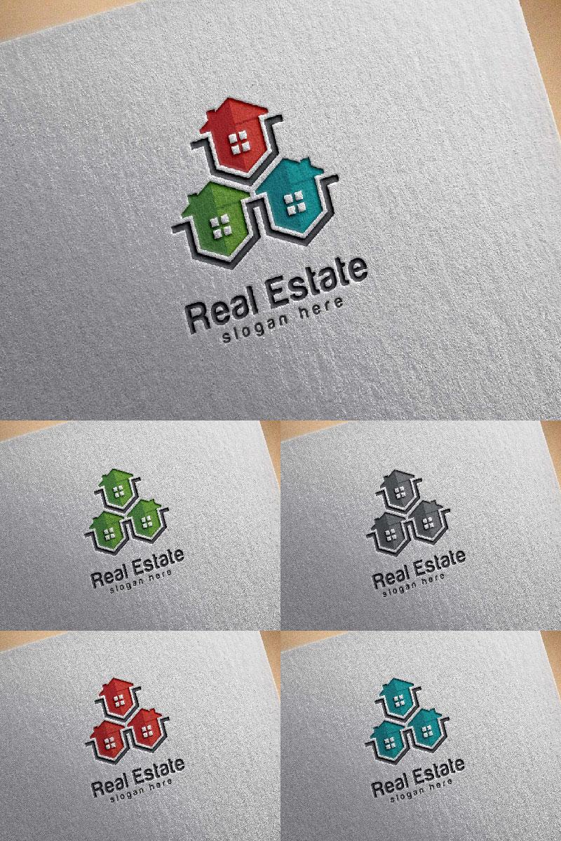 Real Estate 4 Logo Template - screenshot