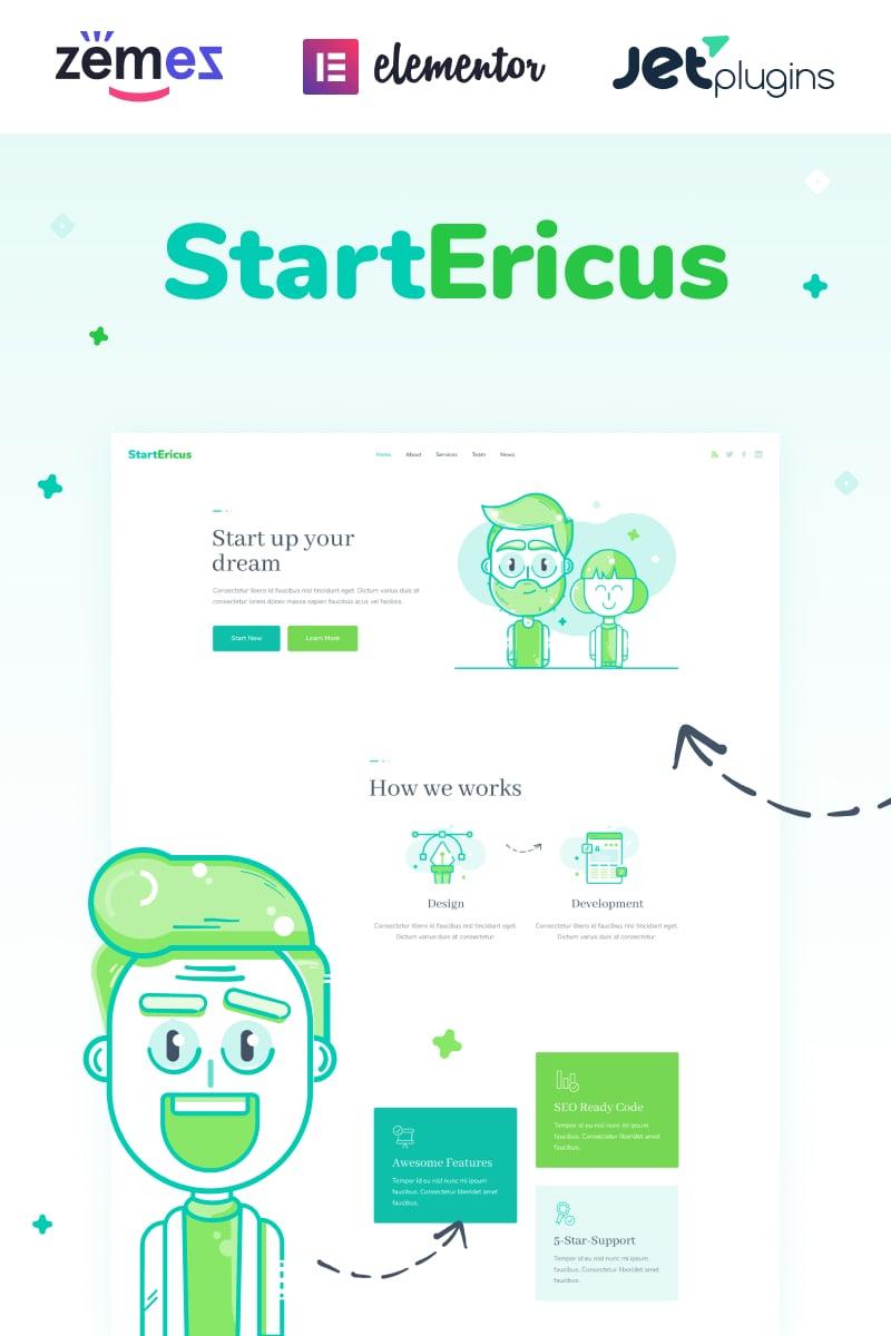 Reszponzív StartEricus - Clean and Minimalistic Startup Landing Page WordPress sablon 93491