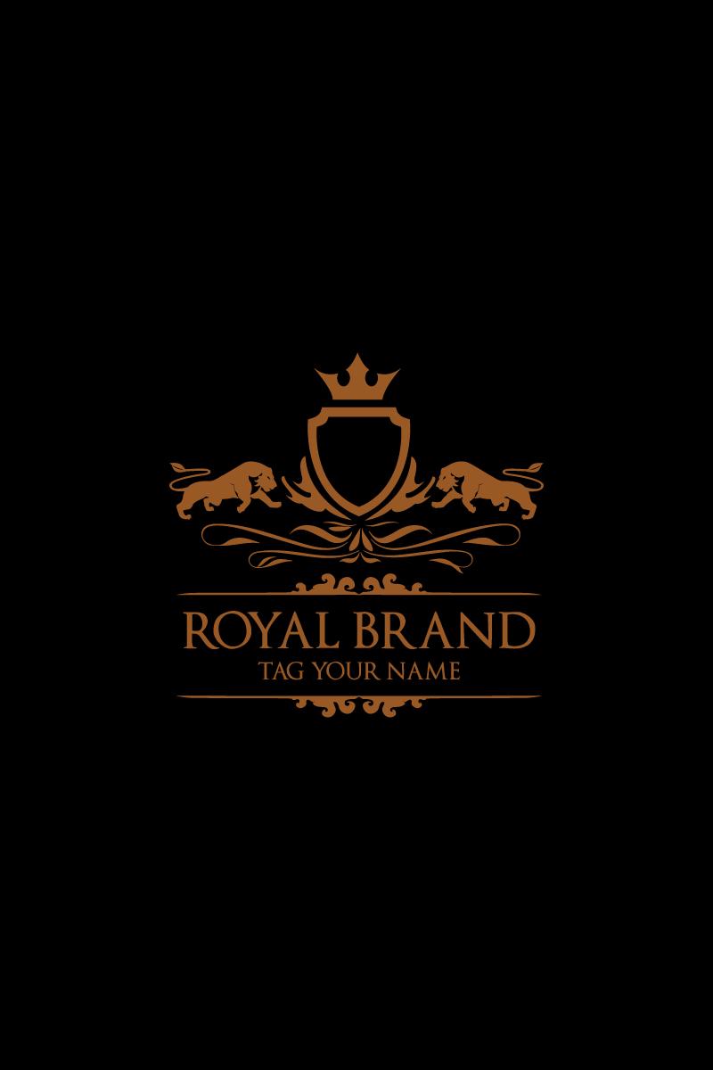 Royal Lion King Heraldic Logo Template - screenshot