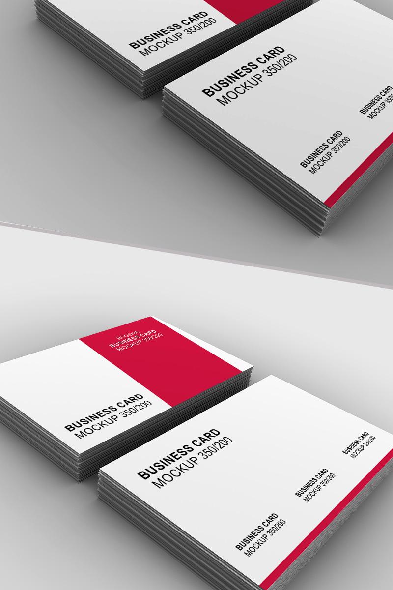 Set of business card stacks Product Mockup
