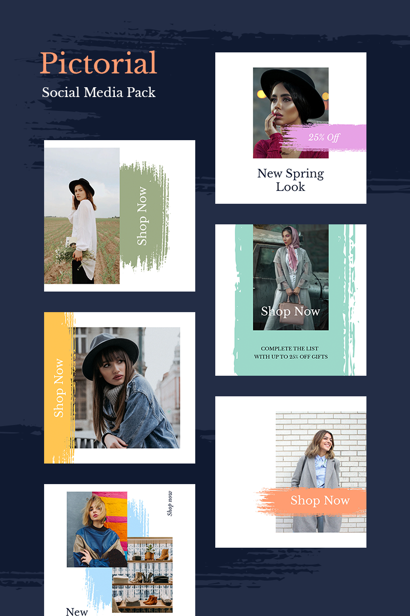 "Soziale Medien namens ""Pictorial Instagram Templates"" #93443 - Screenshot"