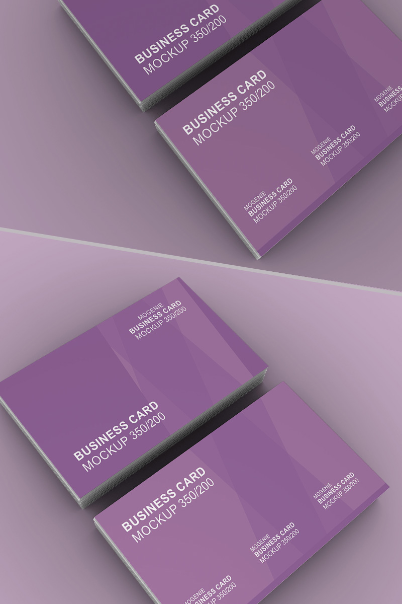 Stack of Business Card Product Mockup