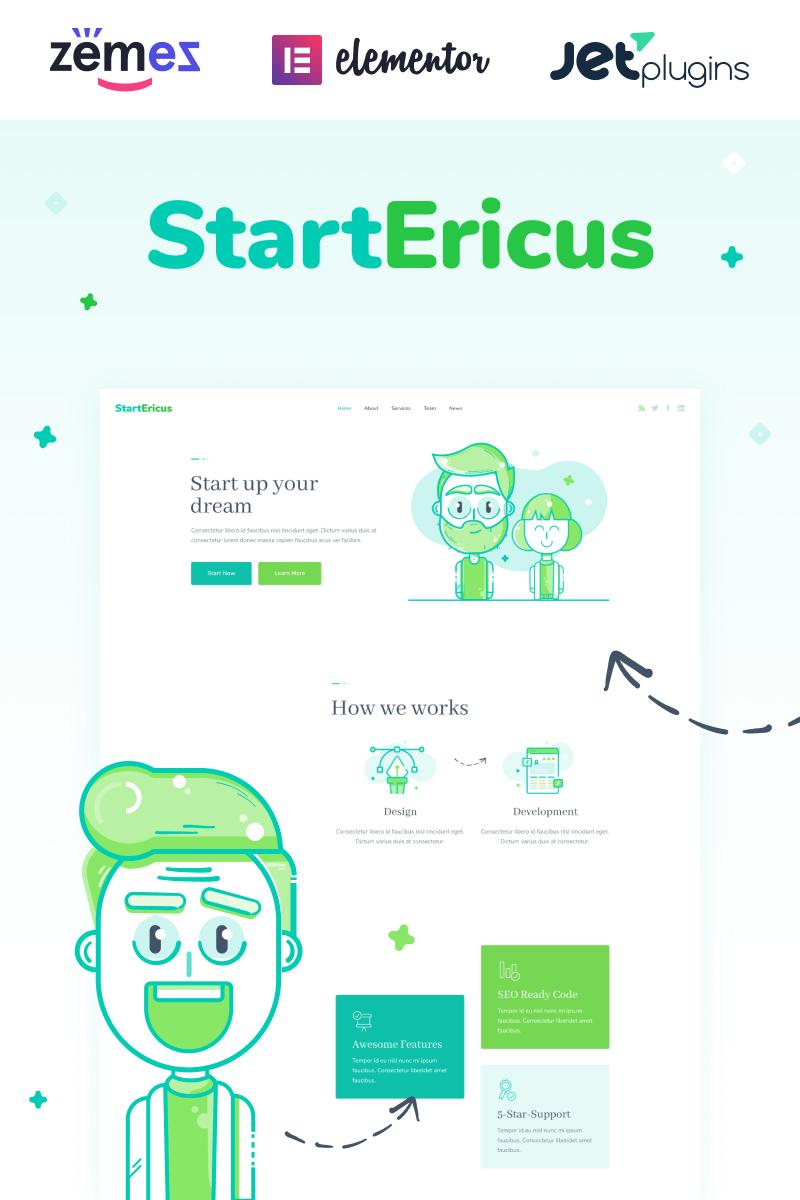"""StartEricus - Clean and Minimalistic Startup Landing Page"" - адаптивний WordPress шаблон №93491"