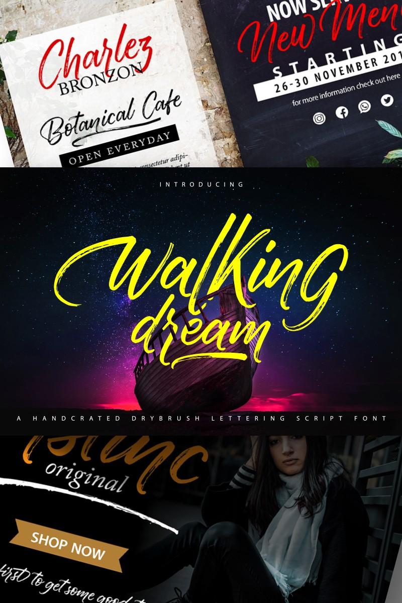 Walking Dream | A Handcrafted Drybrush Lettering Script Font - screenshot