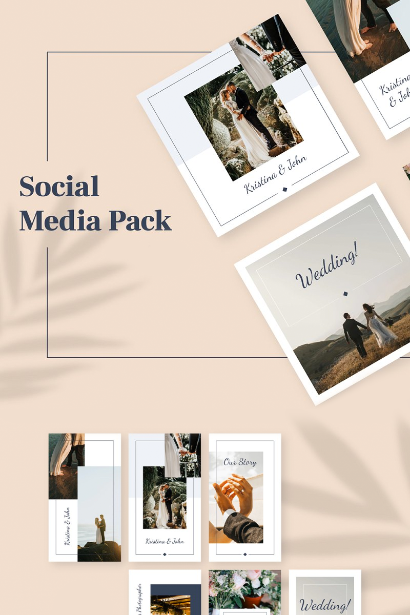 Wedding Instagram Pack Sosyal Medya #93442 - Ekran resmi