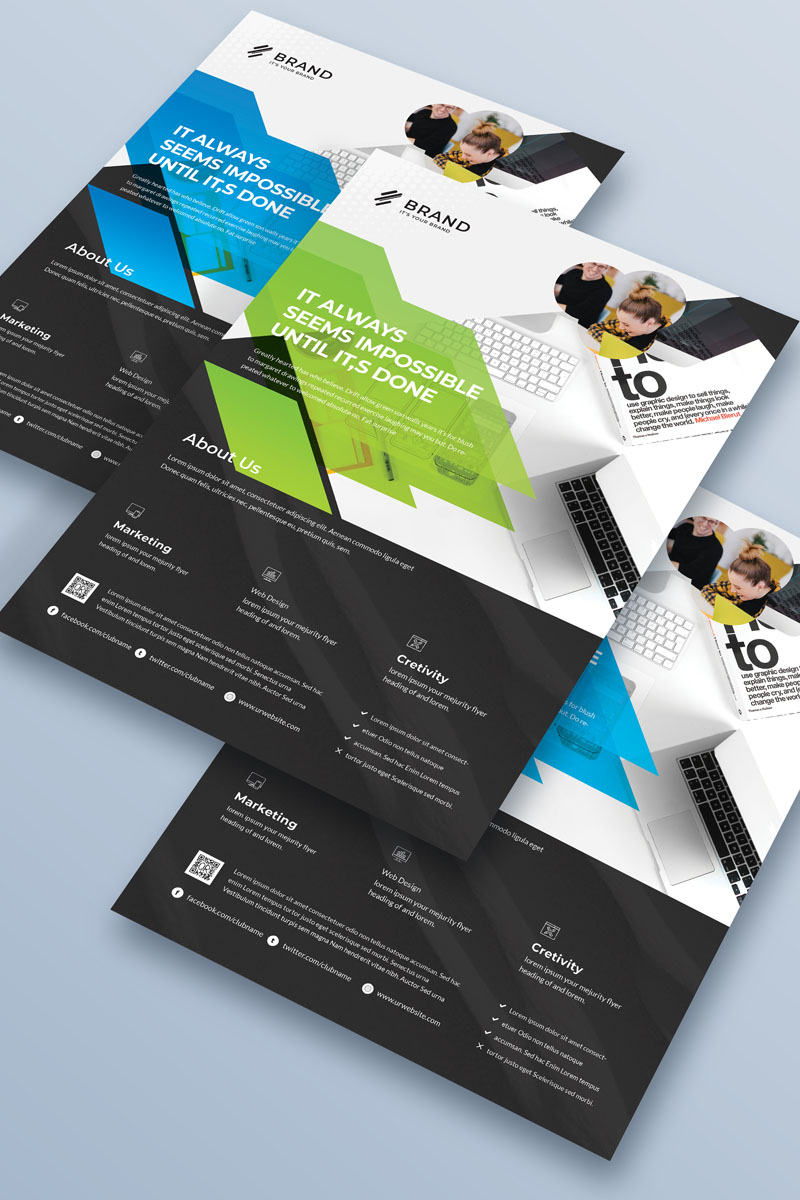 Brand - Creative Business Flyer Vol_ 20 Corporate Identity Template
