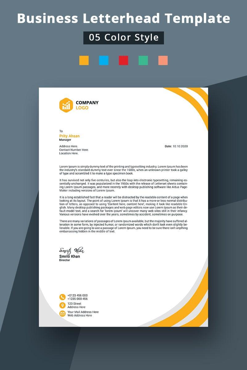 Colorful Business Letterhead Design Corporate Identity Template