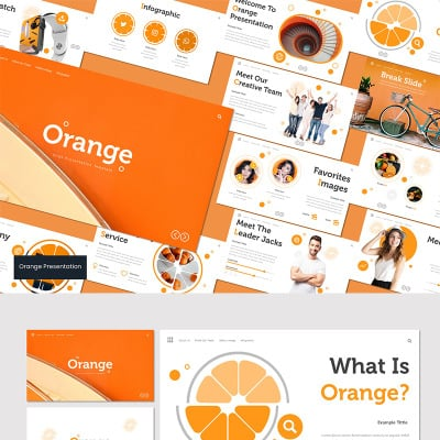 "Keynote шаблон ""Orange Keynote Template"" #93537"