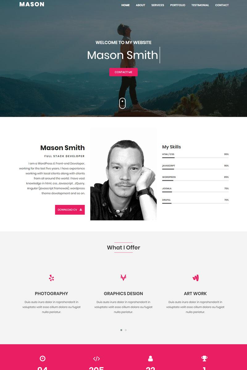 Mason - Personal Portfolio Landing Page Template - screenshot