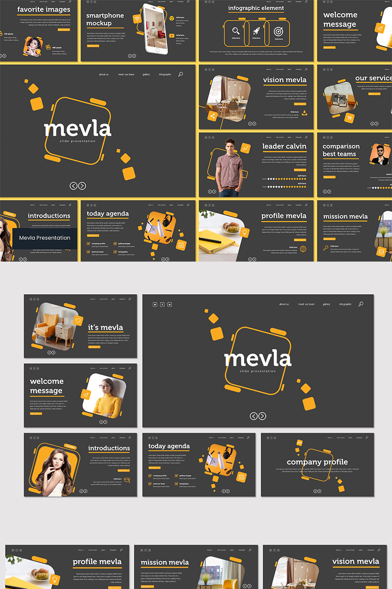 """Mevla"" Keynote Template №93541"