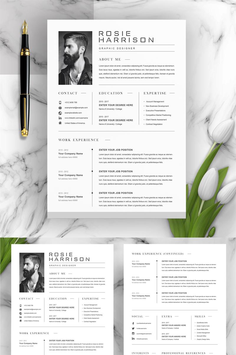 Rosie Resume Template - screenshot