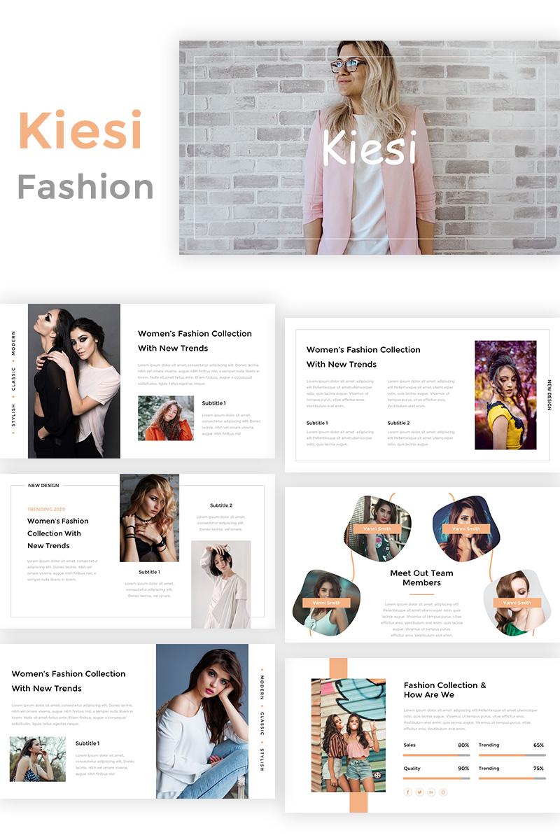 Kiesi - Fashion PowerPoint Template - screenshot