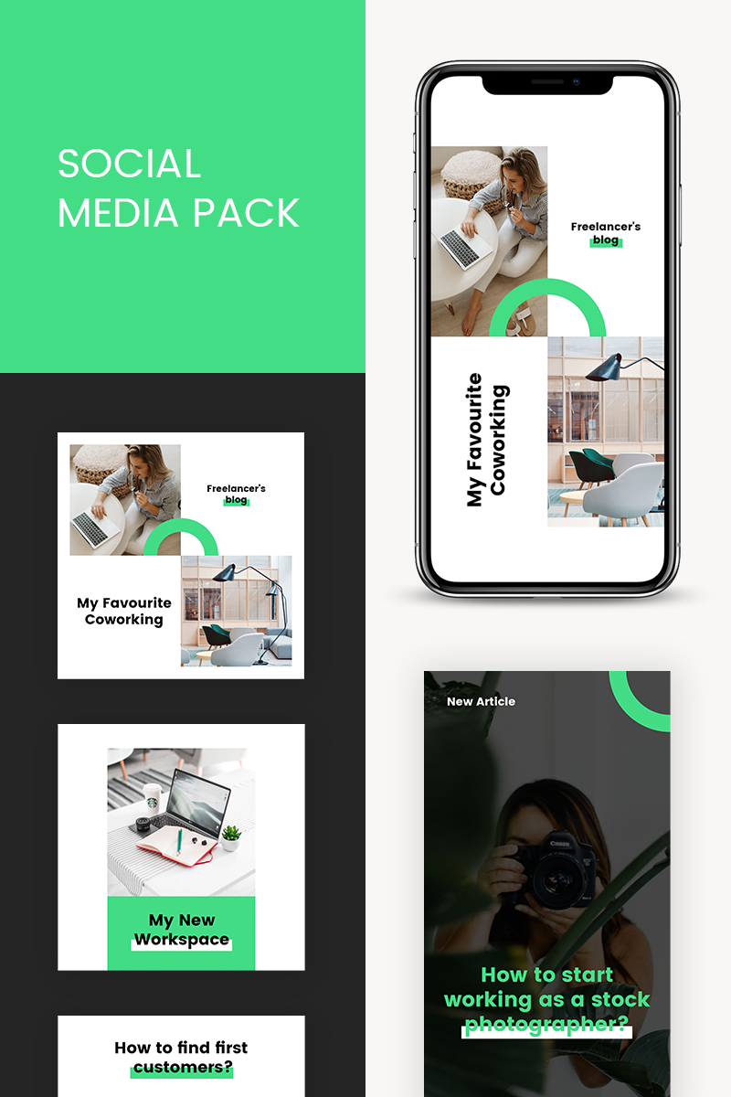 "Medios Sociales ""Freelancer Instagram Templates"" #93640"