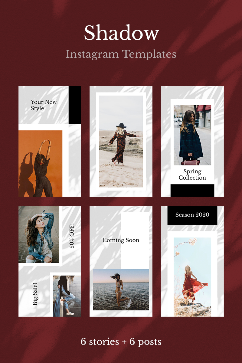 "Medios Sociales ""Shadow Instagram Templates"" #93639"