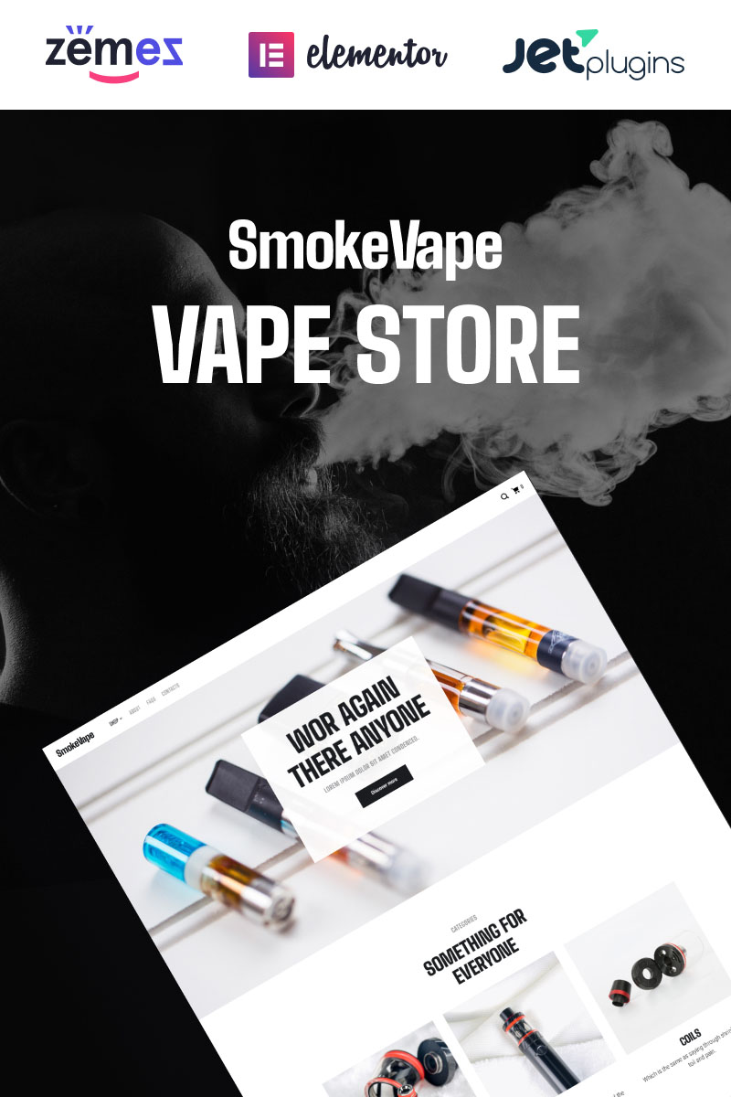 Responsive SmokeVape - Vape Shop eCommerce Websites Woocommerce #93615