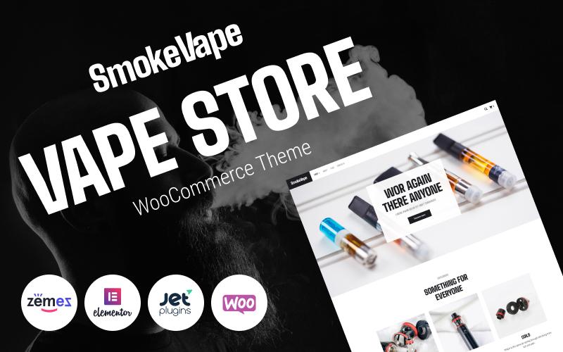 """SmokeVape - Vape Shop eCommerce Websites"" Responsive WooCommerce Thema №93615"