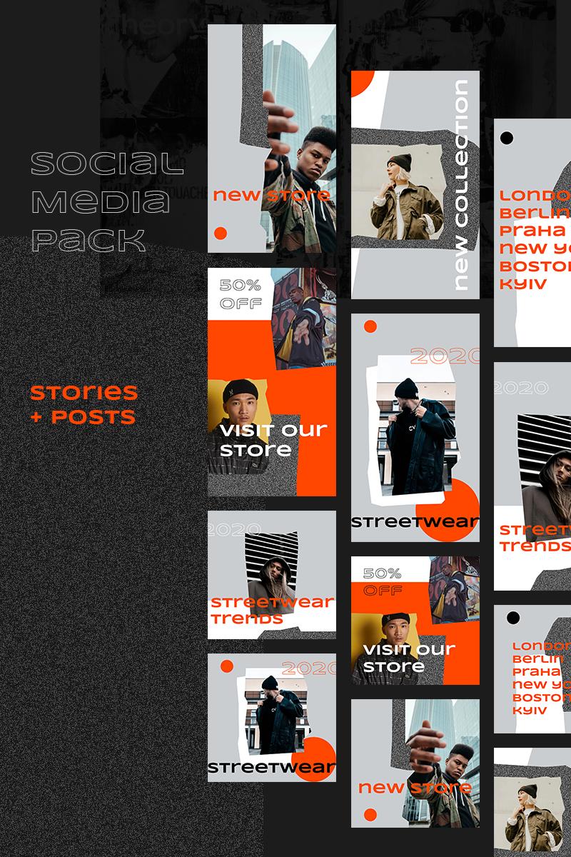 """Streetwear Instagram Pack"" média social  #93637"