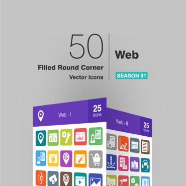 Купить  пофессиональные Набор иконок. Купить шаблон #93785 и создать сайт.