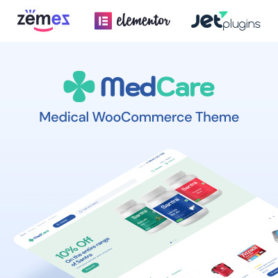 Responsive MedCare - Soft and Responsive Pharmacy Woocommerce Teması #93886