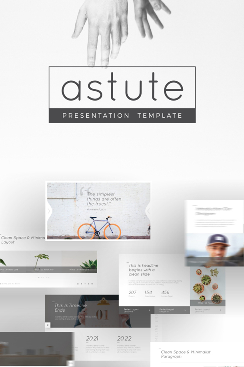"""Astute Multifunctional"" PowerPoint 模板 #93951 - 截图"