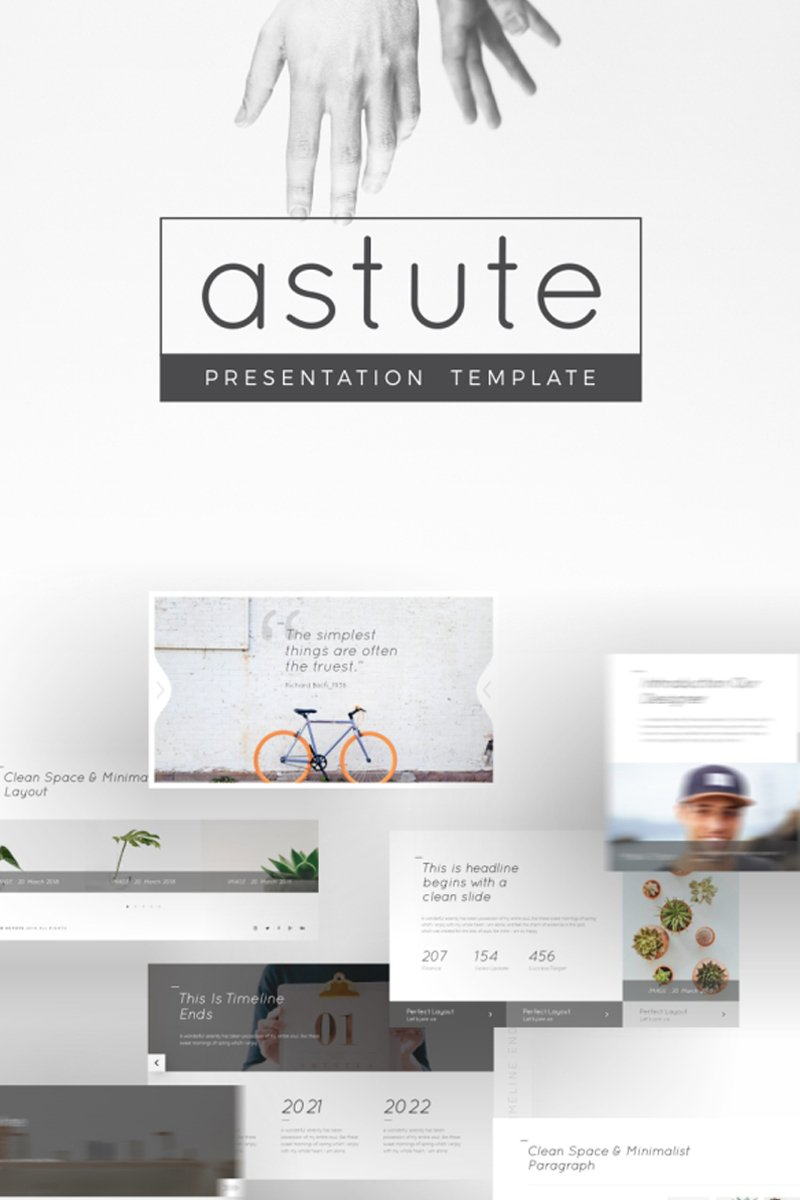 Astute Multifunctional Template PowerPoint №93951 - captura de tela