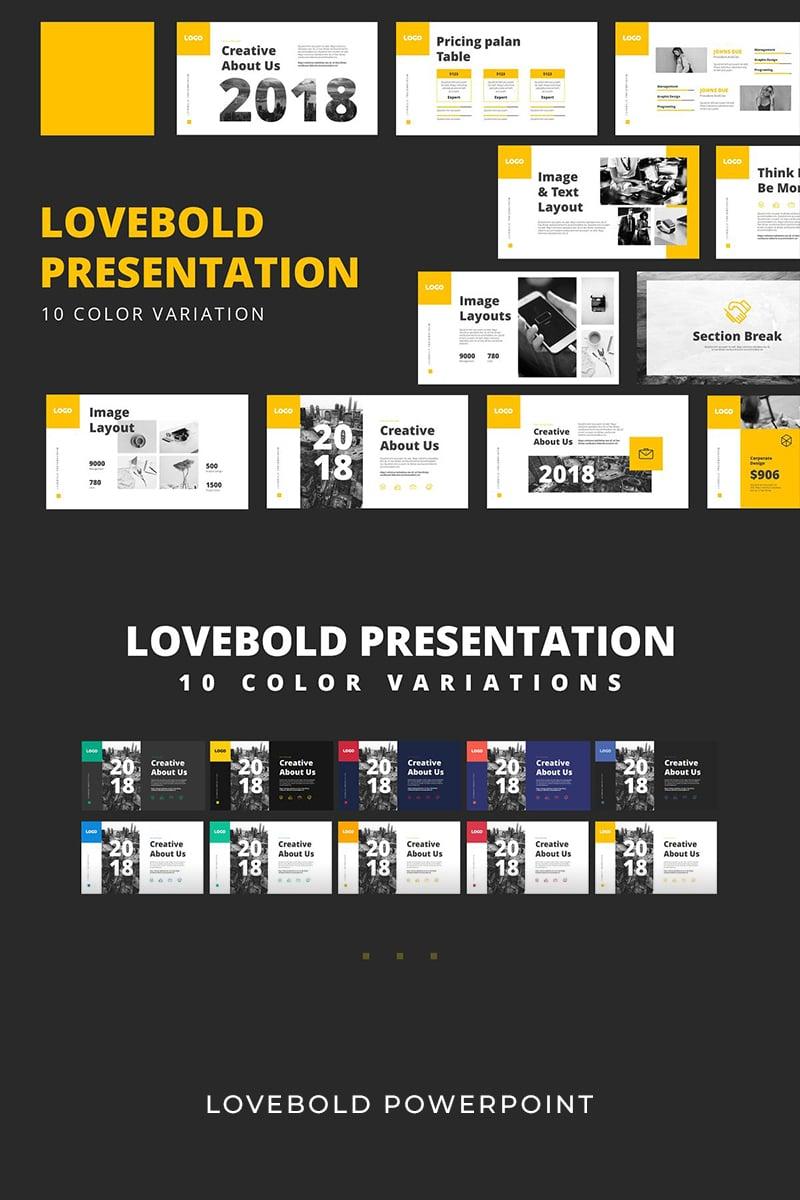 """Modello PowerPoint #93950 """"Lovebold"""""""
