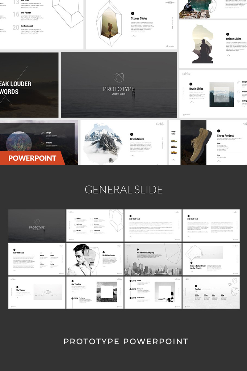 """Prototype"" PowerPoint Template №93949"