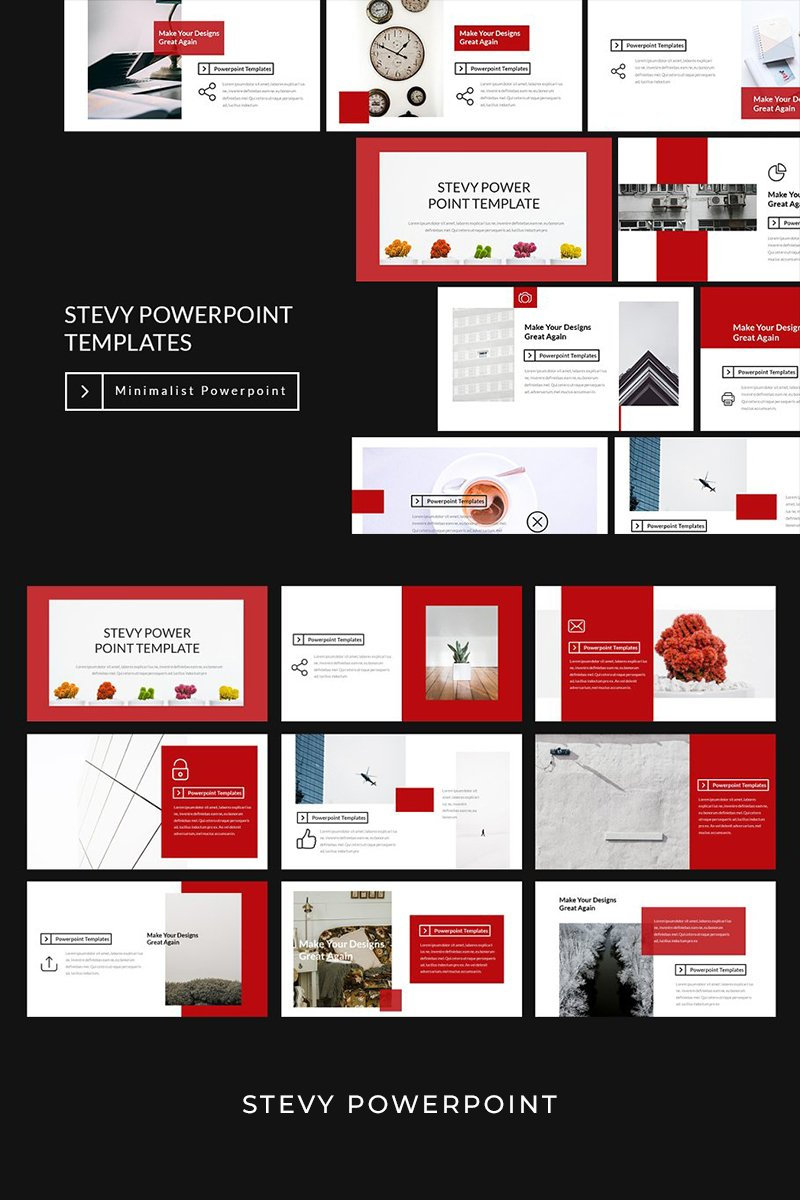 """Stevy Lookbook"" PowerPoint Template №93948"