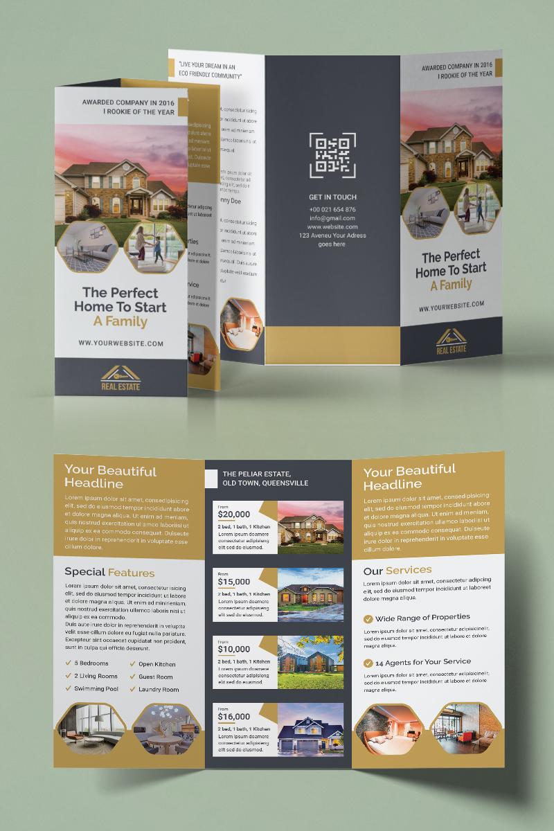 """Tema di Identità Aziendale #93954 """"Real Estate Trifold Brochure"""""""