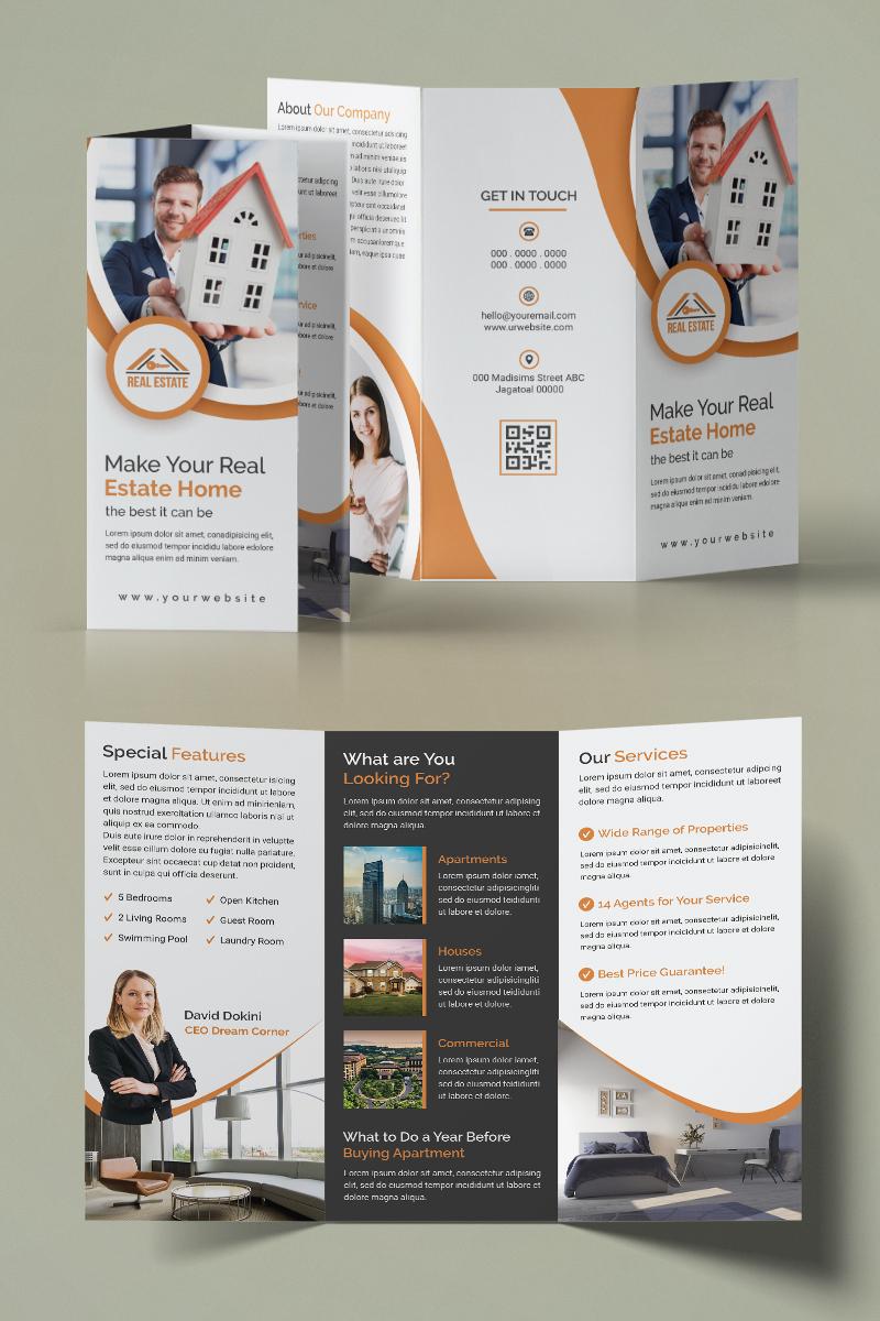 """Template di Identità Aziendale #93955 """"Real Estate Trifold Brochure"""""""