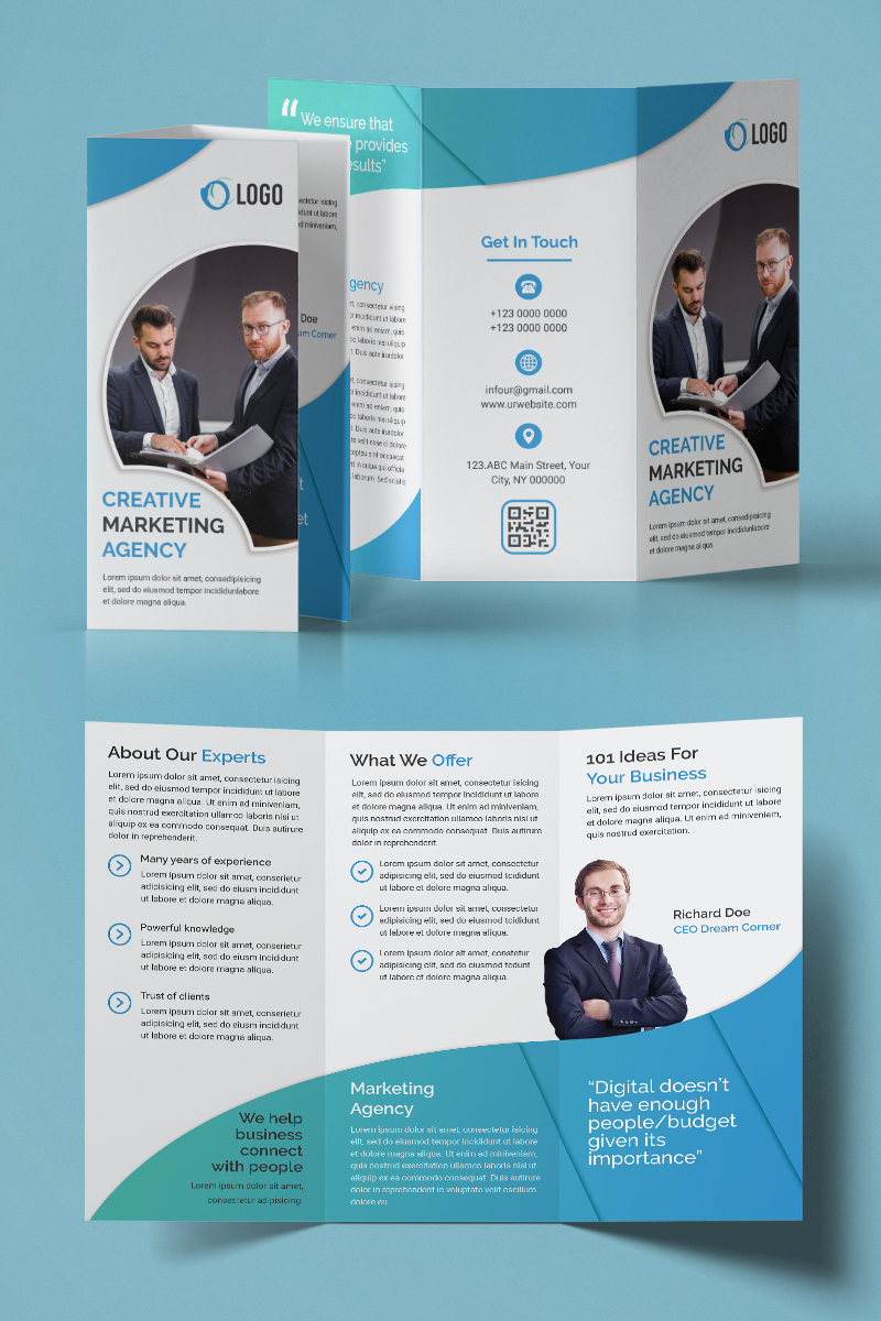 Trifold Brochure Design Corporate Identity Template