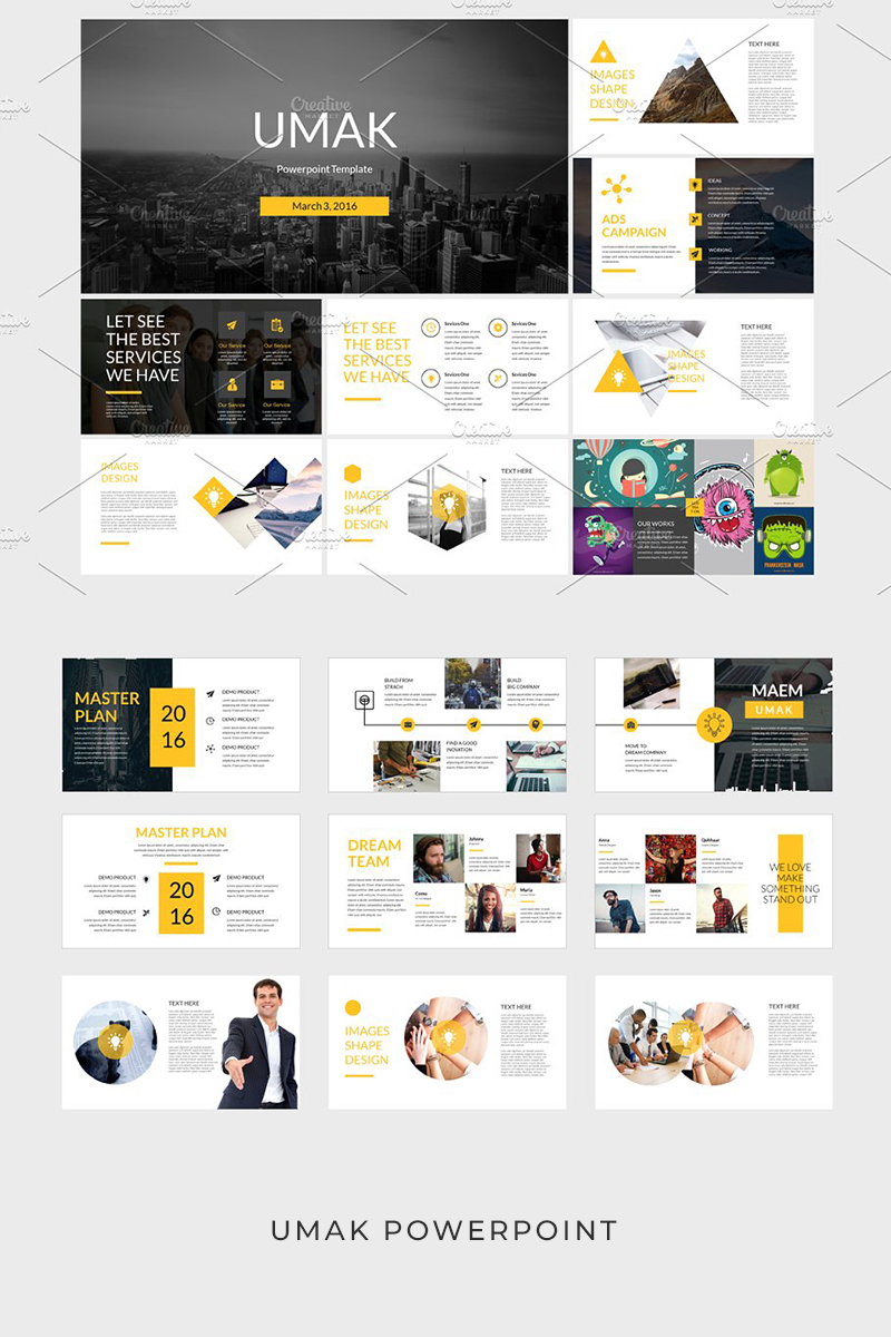 """Umak"" PowerPoint Template №93947"