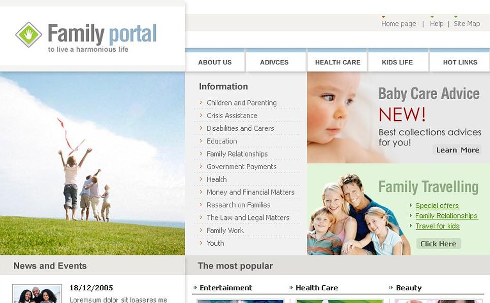 Template siti web per un sito di famiglia for Siti web di home plan