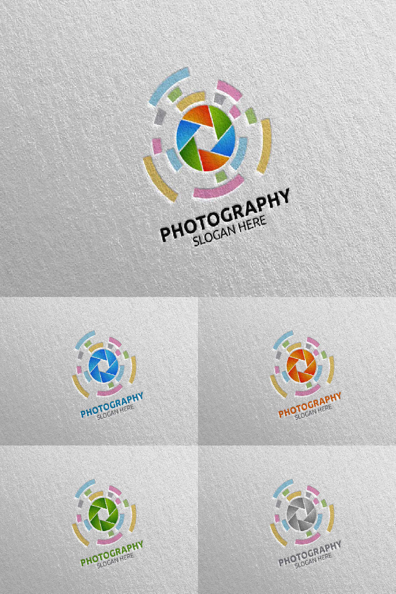"""Abstract Camera Photography 16"" Logo template №94019"