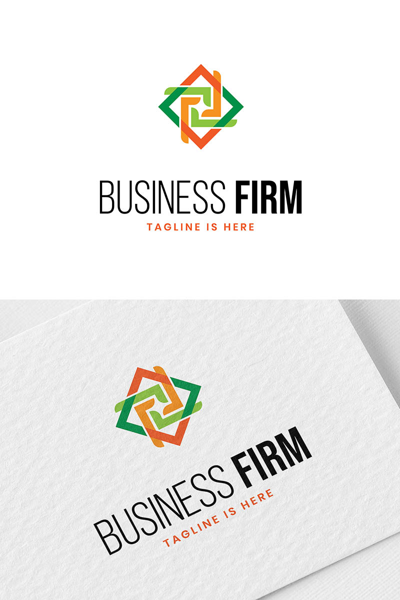 Business firm Unika logotyp mall #94008