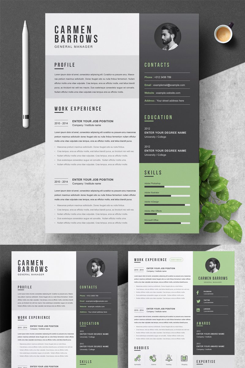 Carmen Resume Template - screenshot
