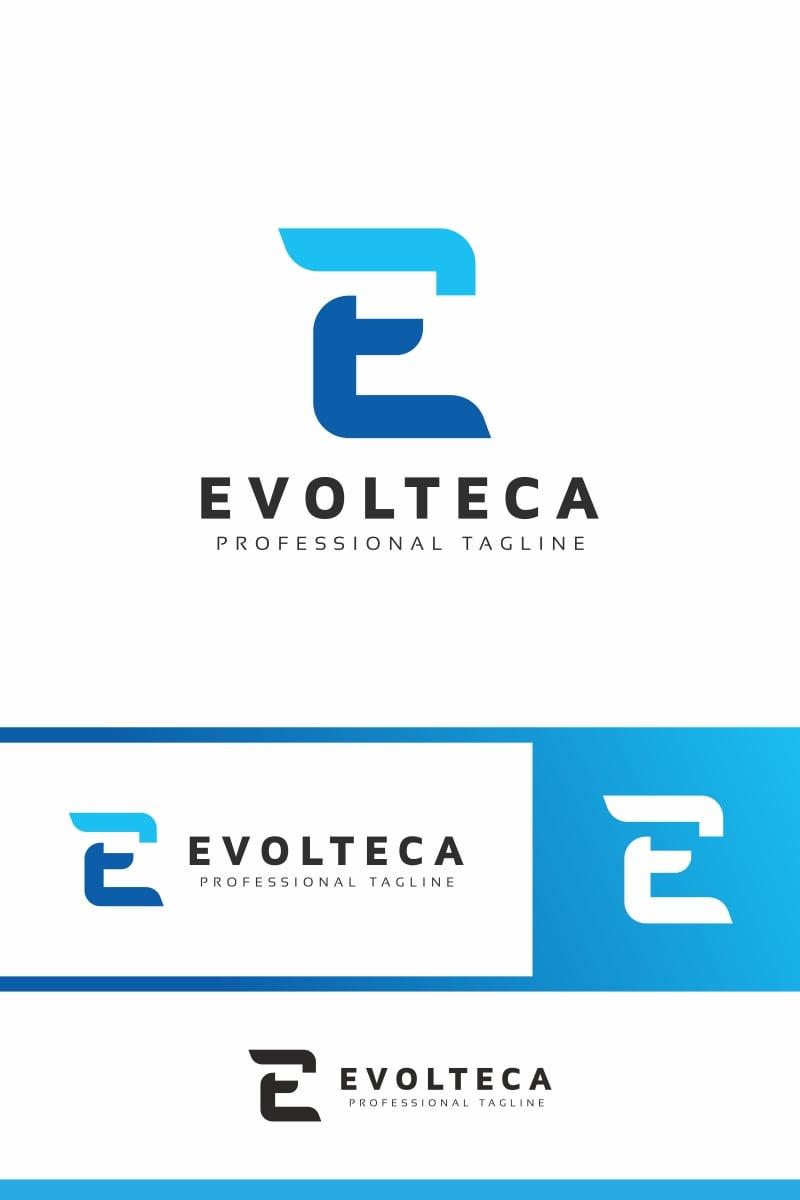 Evolteca E Letter Unika logotyp mall #94027
