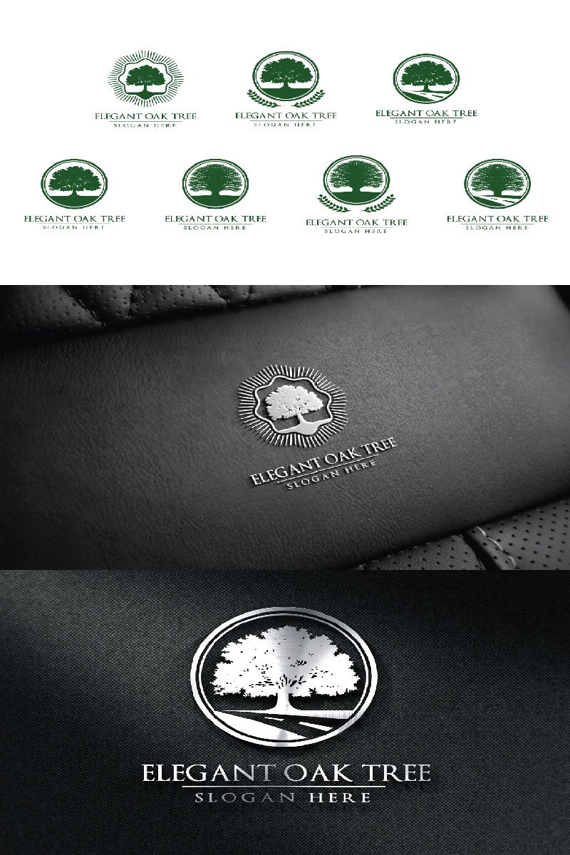 Green Oak Tree 2 Logo #94045