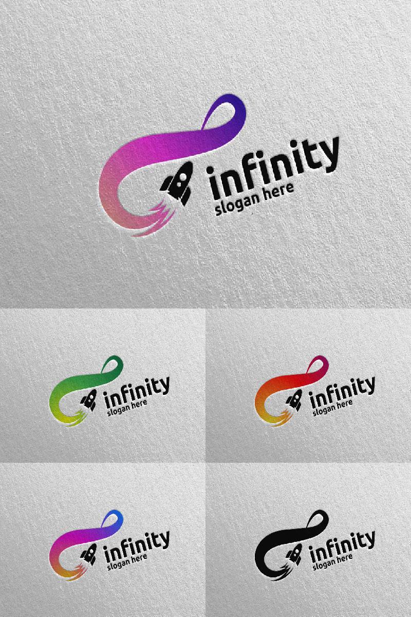 Infinity Rocket Design 42 Unika logotyp mall #94026
