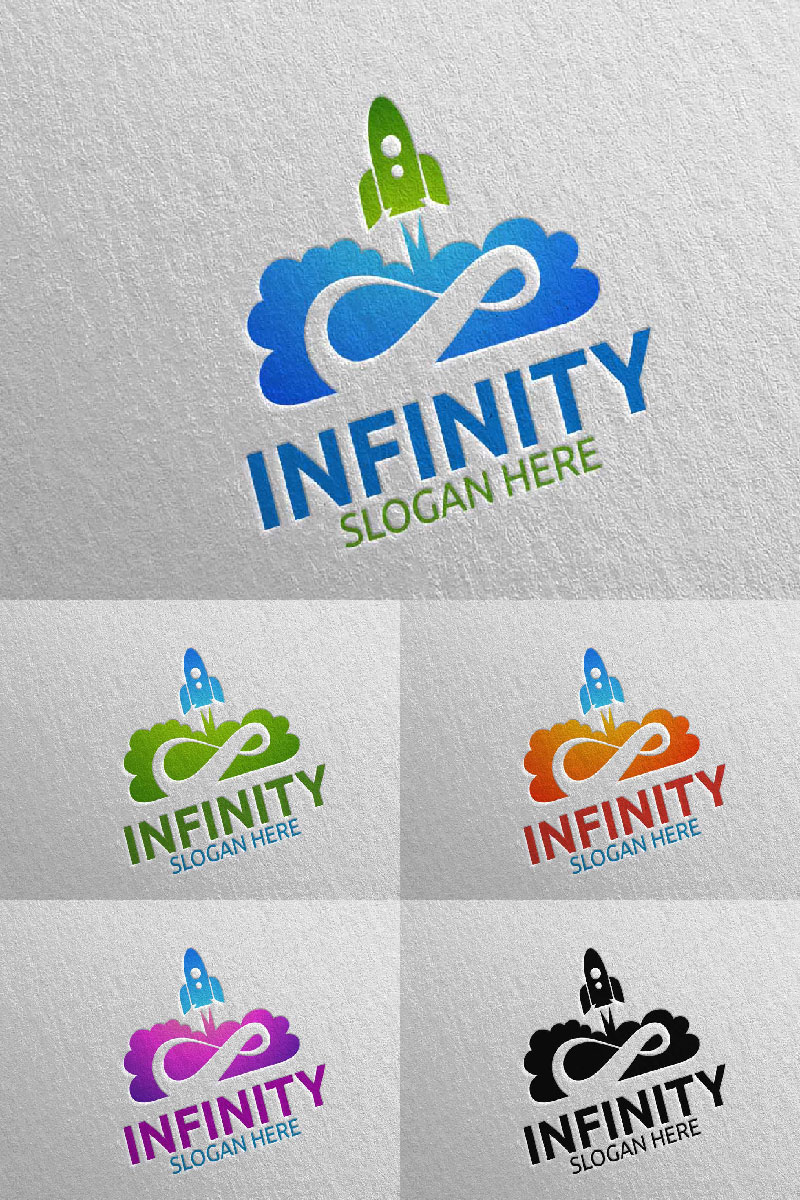 Infinity Rocket Design 43 Unika logotyp mall #94025