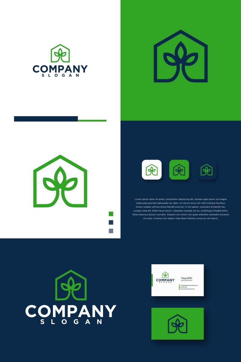 """LEAF HOME"" Logo template №94023"