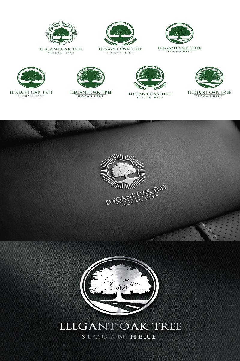 "Logo Vorlage namens ""Green Oak Tree 2"" #94045"