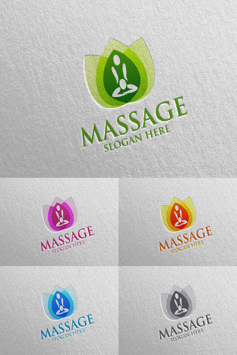 Massage Design  14 Logo Template