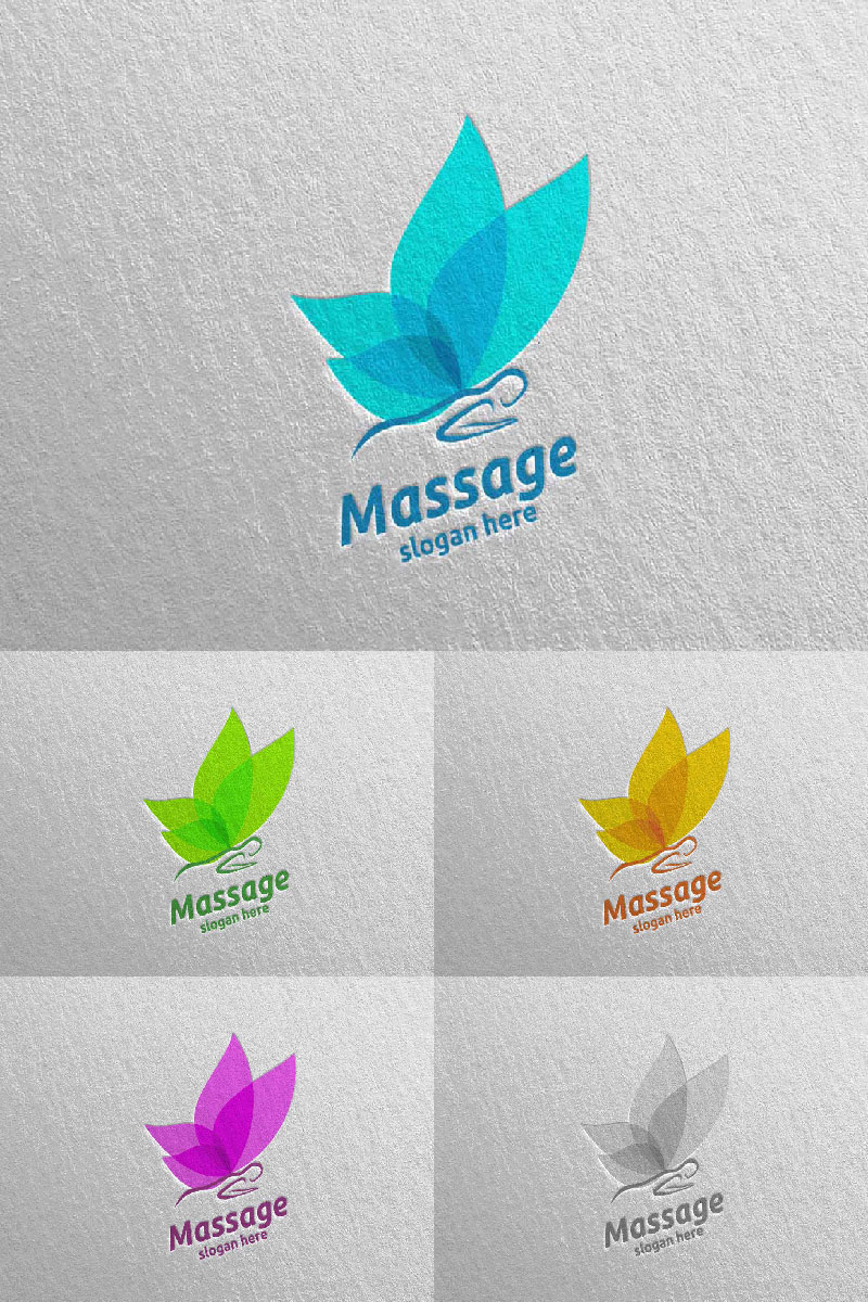 Massage Design  15 Logo Template
